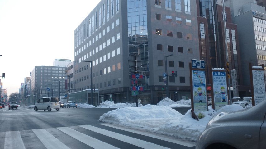 札幌も通り過ぎます