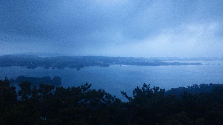 嵐山展望台から
