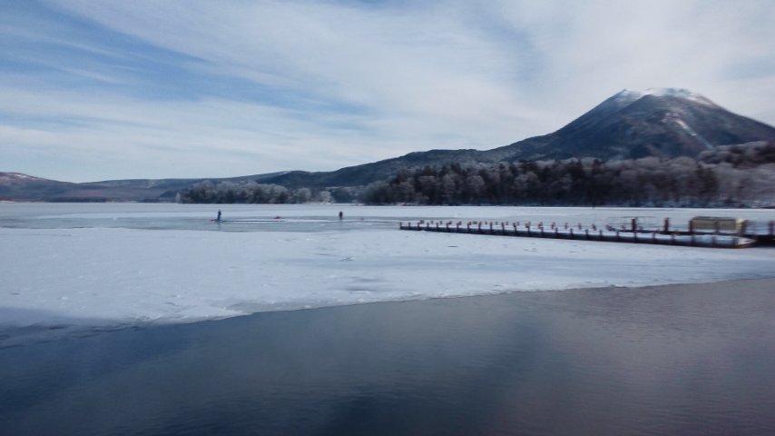 阿寒湖にて