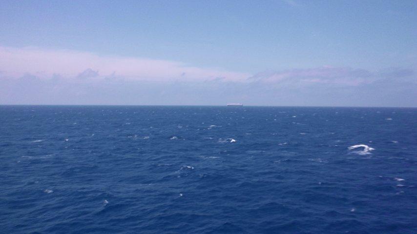 360°の水平線